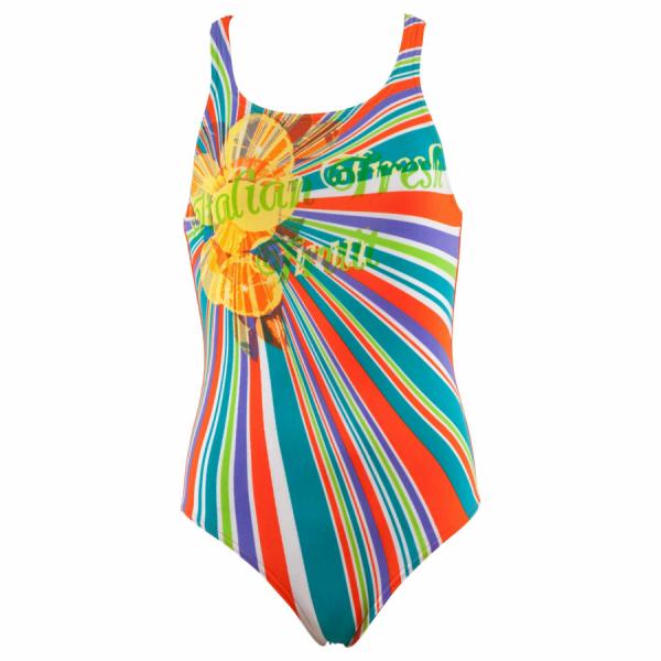 Buy Arena Freshfruit Girls Swimsuit - Orange