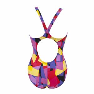 Arena Glassy Ladies black and yellow swim costume