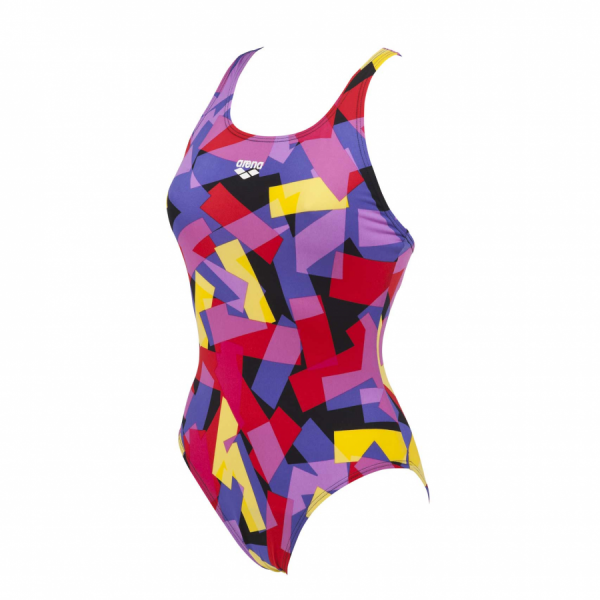 Arena Glassy Ladies black and yellow swim costume