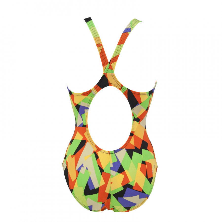 Arena Ladies Black and Green Swimsuit - Glassy