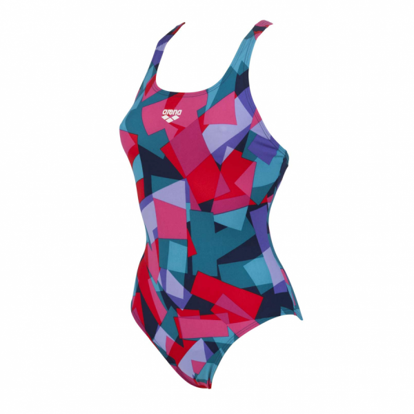 Arena Women's Glassy Blue and Red Swimsuit