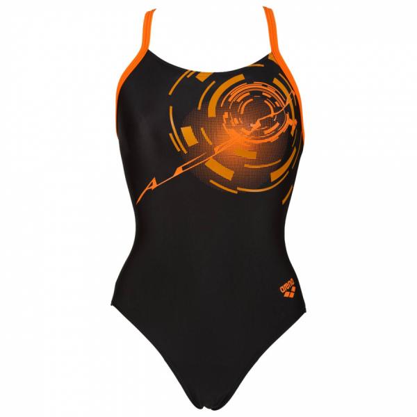 Shop Goal Black / Orange Arena Swimsuit