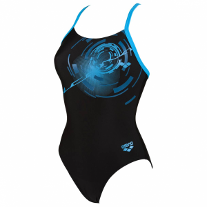 Goal Black Blue Arena Swimsuit