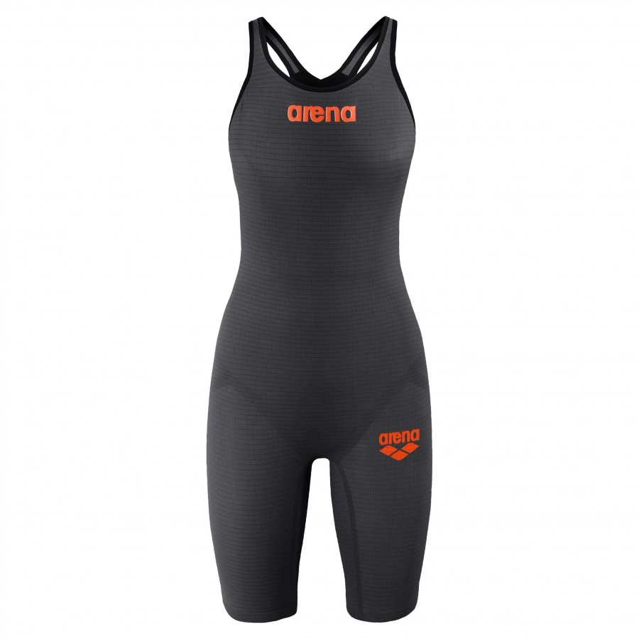 Arena Carbon Pro 2 Closed Back Short Leg Suit - Grey