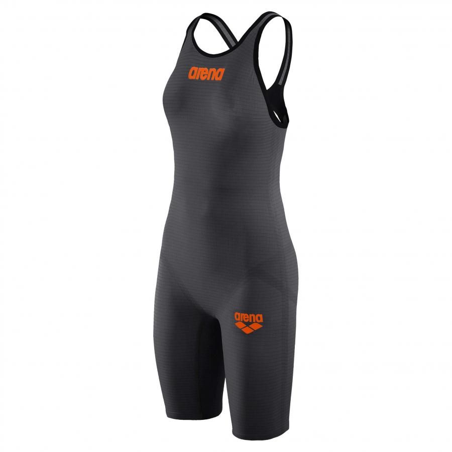 Arena Carbon Pro 2 Open Back Short Leg Suit - Grey
