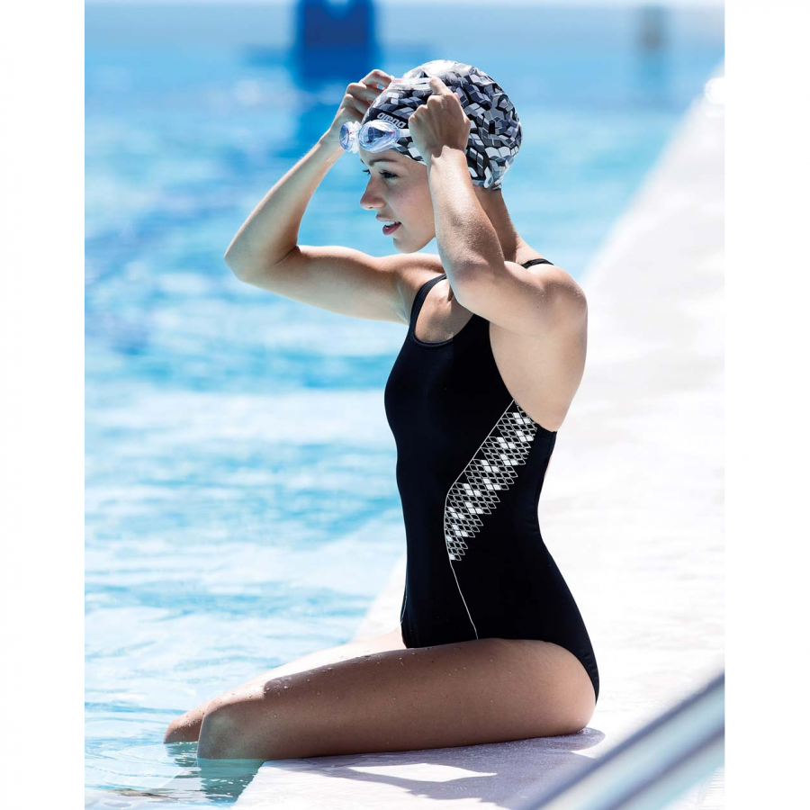 Buy Arena black and white swimsuit