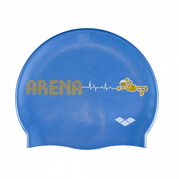 Arena Kun Junior Swim Cap - Fast Blue
