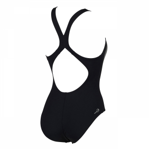 Arena Madir swimsuit in black with silver detailing (Back)