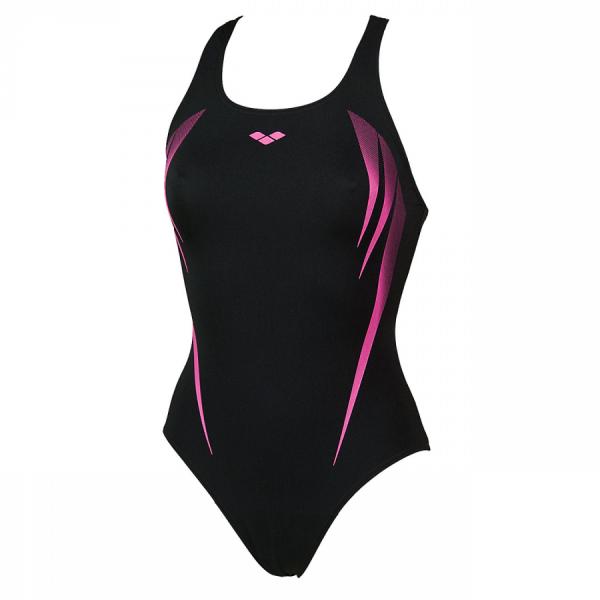 Arena Swimsuit - Madir (Black / Fuchsia) Front