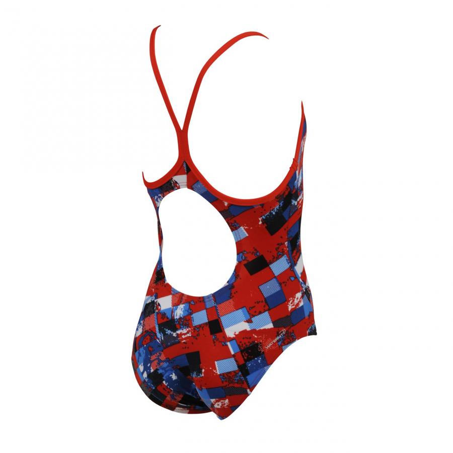 Arena Mahogany Girls Mulitcoloured Swimsuit (Red) Back
