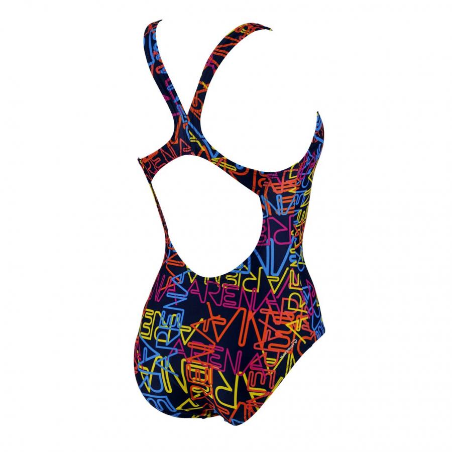 Arena Ladies Maiolica Swimsuit (Navy/Multi)