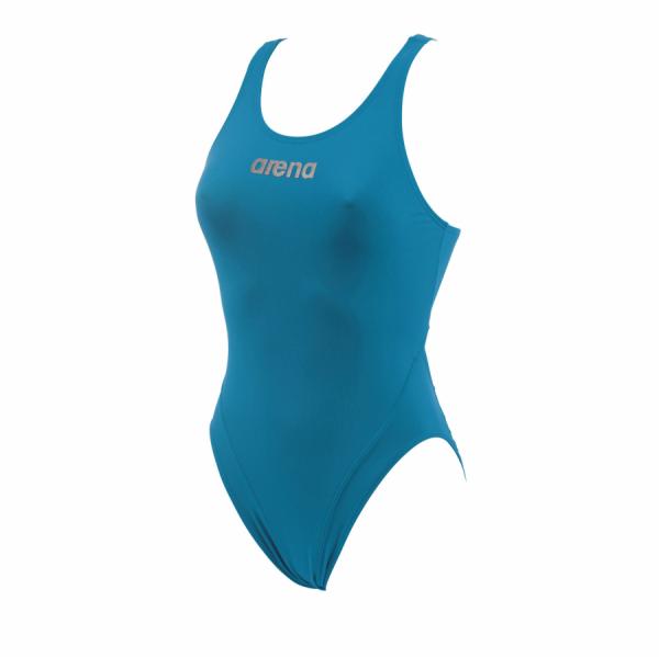 Arena Ladies Makinas High Leg Swimsuit (Turquoise)