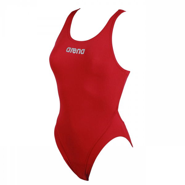 Arena Ladies Makinas High Leg Swimsuit (Red)