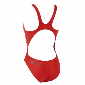 Arena Makinax High Leg Swimsuit (Red) Back