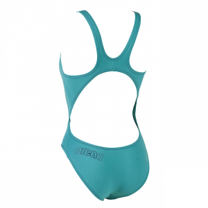 Arena Makinax veridian green medium leg swimsuit (Back)