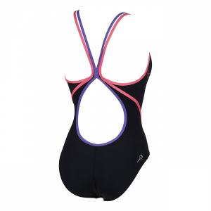 Arena Swimwear Marcelline Black, Petunia and Dahlia Costume (Back)