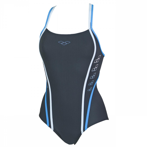 Arena Ladies Swimming Costume - Marcelline (Grey) Front