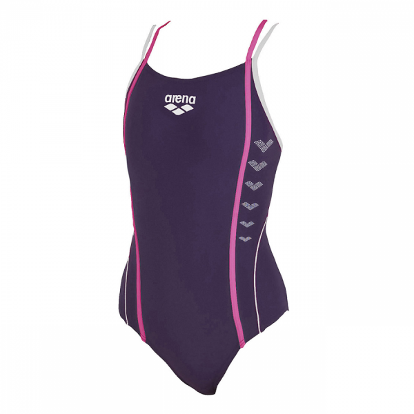 Arena Markel Junior Swimsuit - Plum (Front)