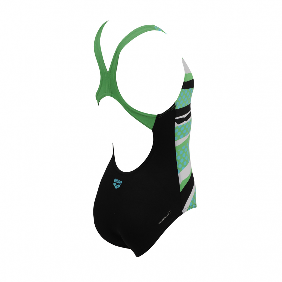 Arena Marseille Junior Swimsuit (Black / Green)