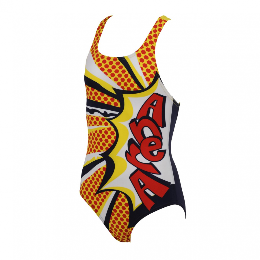 Arena Marseille Junior Swimsuit (Navy / Yellow)