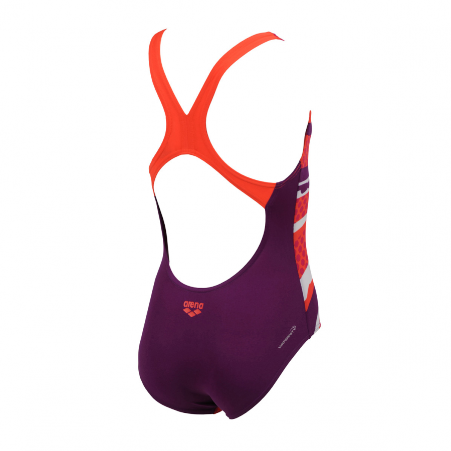Arena Marseille Junior Swimsuit (Purple / Red)