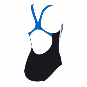 Arena Michel swimsuit with black, blue and white detailing (Back)