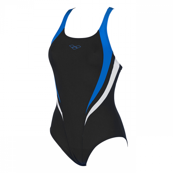 Arena Michel swimsuit with black, blue and white detailing (Front)