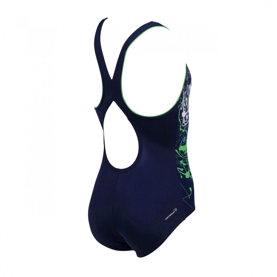Arena Minonda Junior Swimsuit (Navy / Green)