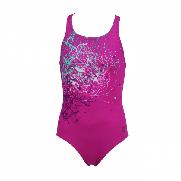 Arena Minonda Girls Swimsuit (Pink) Front