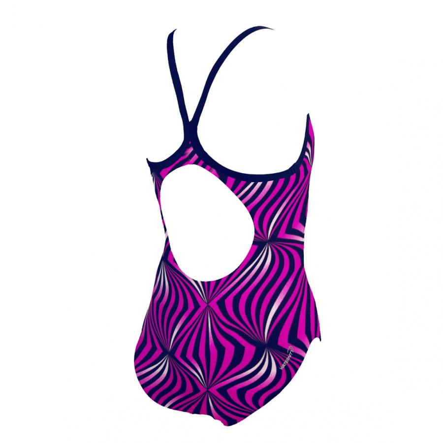 Arena Mirador Junior Swimsuit - Navy/Fuchsia