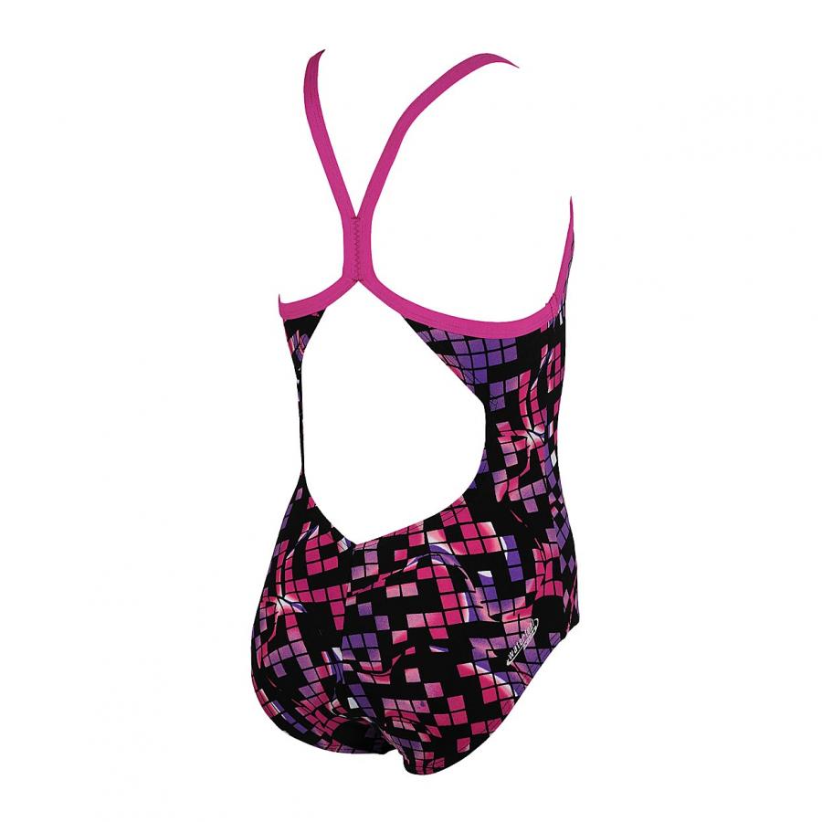 Arena Mistel Junior Swimsuit -  Black / Fuchsia