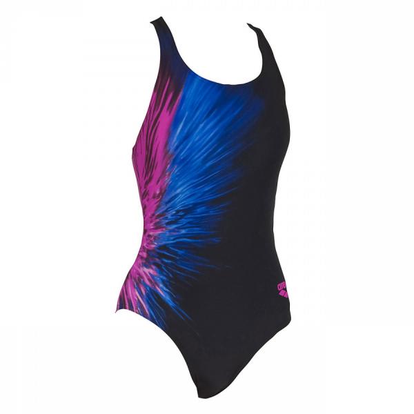 Arena Ladies Swimwear - Montbrison (Black/Fuchsia) Front