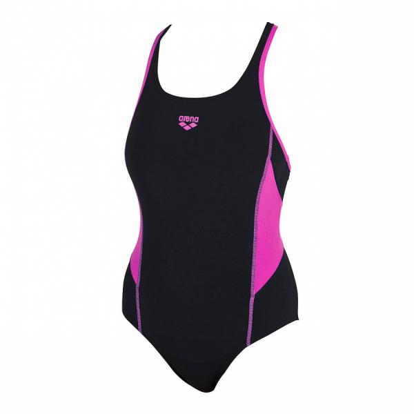 Arena Ladies Moons Black / Fuchsia Swimsuit