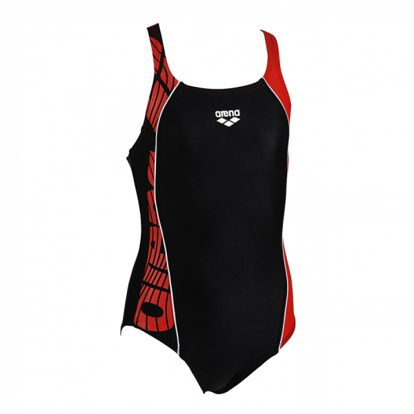 Arena Junior Swimsuit -  Mouce (Black / Red)