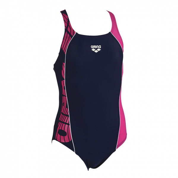 Arena Junior Swimsuit -  Mouce (Navy / Fuchsia)