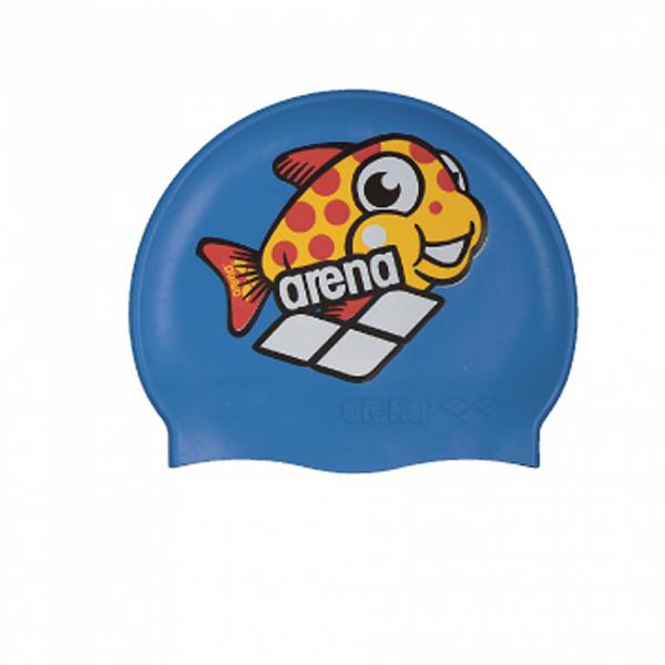 Arena World Junior Swim Cap - Blue Fish