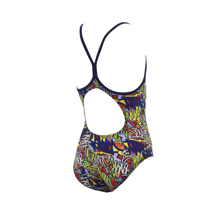 Arena Murales Girls Swimsuit (Yellow Multi)