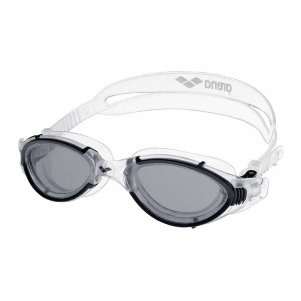 Arena Nimess Swim Goggles Smoke Lens Clear Strap