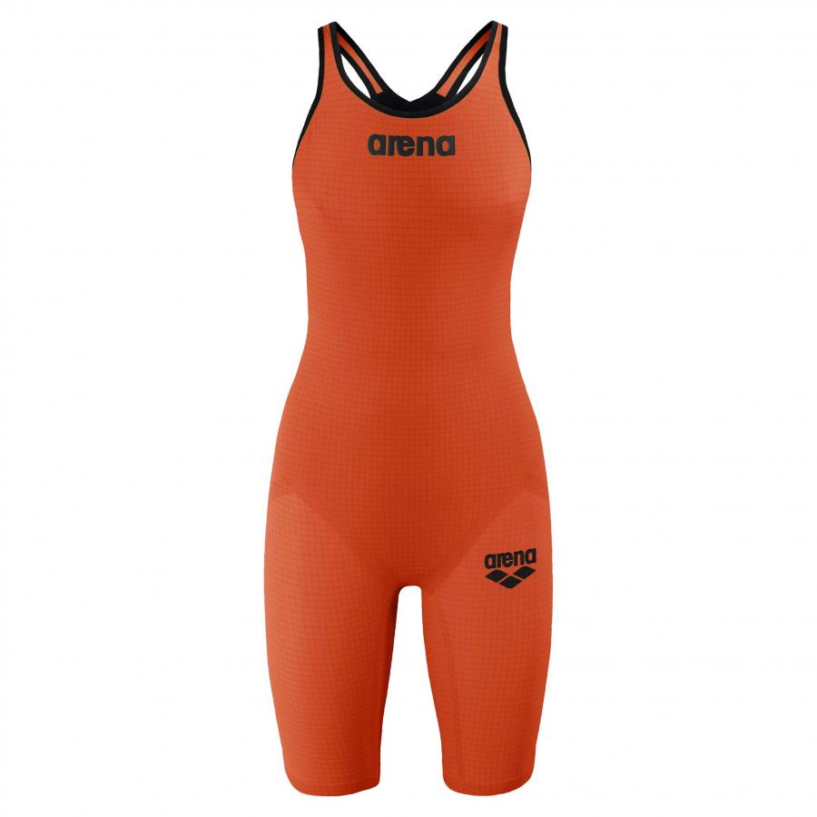 Arena Carbon Pro 2 Closed Back Short Leg Suit - Orange