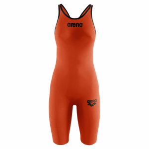 Arena Carbon Pro 2 Orange Closed Back Short Leg Suit