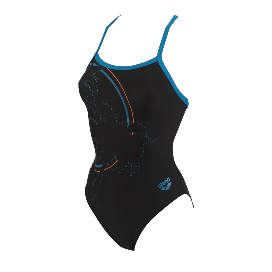 Arena Ladies Palm one piece black swim suit