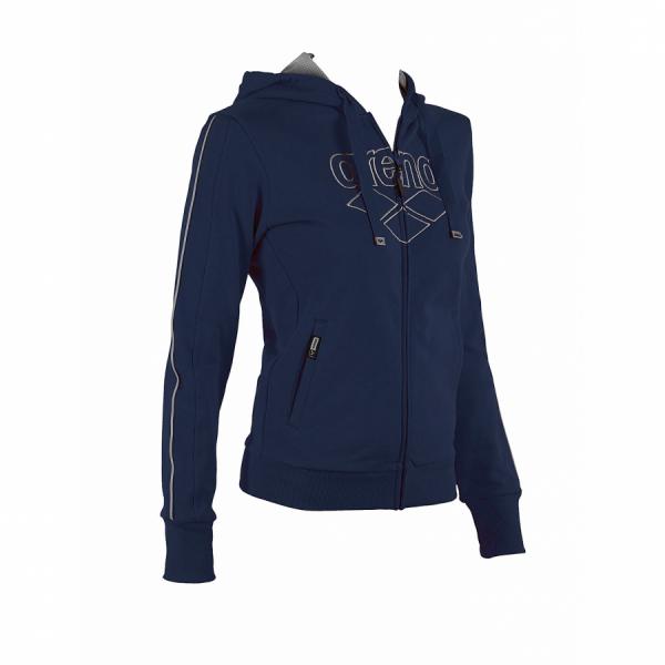 Ladies Arena Parkour Hooded Full Zip Sweatshirt - Navy