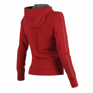 Ladies Arena Parkour Hooded Full Zip Sweatshirt - Red