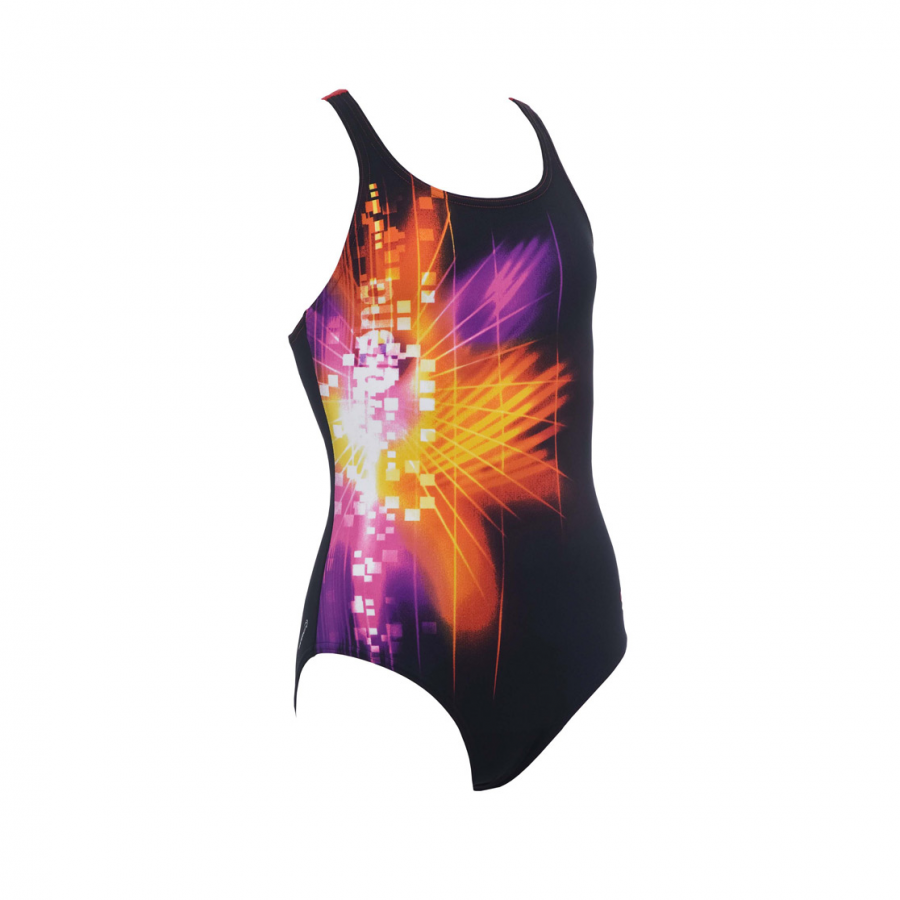 Arena Pixel Girls Swimsuit (Black)