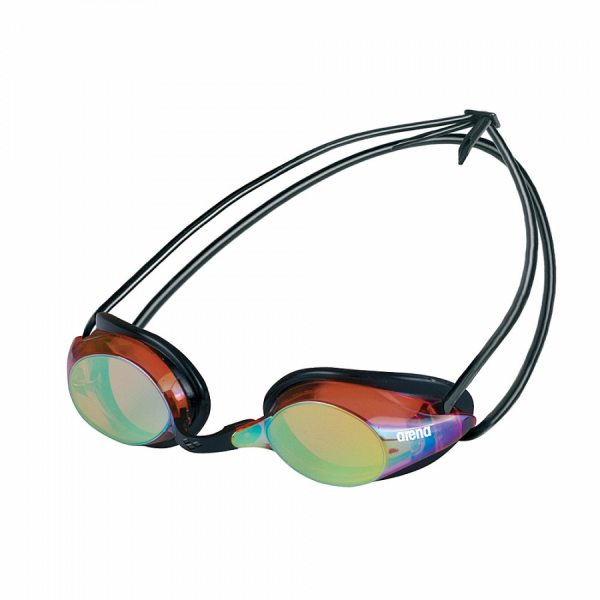 Arena Pure Mirror Racing Goggles - Red/Yellow Lens