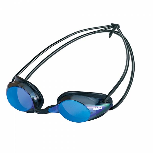Arena Pure Mirror Racing Goggles - Smoke/Blue Lens