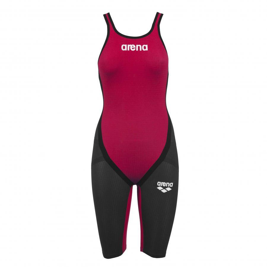 Buy Arena Red Carbon Flex Open Back Short Leg Suit online at arenaswimwearstore.com