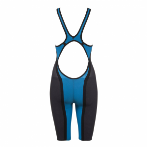 Buy Arena Blue Carbon Flex Open Back Short Leg Suit online at arenaswimwearstore.com