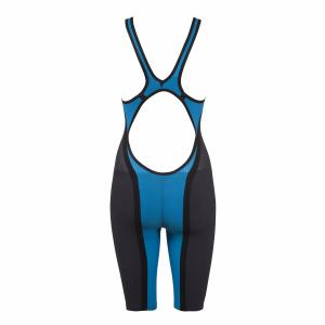 Buy Arena Blue Carbon Flex Open Back Short Leg Suit online at arenaswimwearstore.com