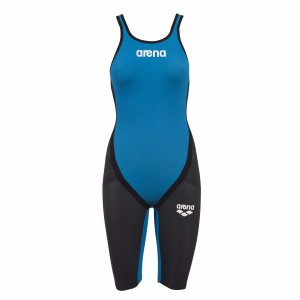 Arena Blue Carbon Flex Open Back Short Leg Suit